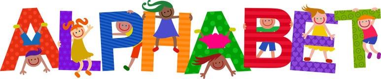 Alphabet Kids Title Text Royalty Free Stock Photo