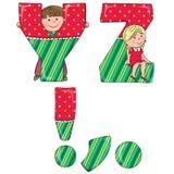 Alphabet kids YZ Stock Photo