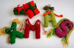 Alphabet, knitted, letter, emotion, handmade Stock Images