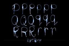 Alphabet léger de peinture - Serge Font léger PQR Photo libre de droits