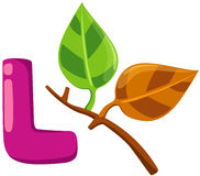 Alphabet L for leaf Royalty Free Stock Photos