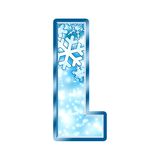 alphabet l letter winter Στοκ εικόνα με δικαίωμα ελεύθερης χρήσης