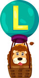 Alphabet L for Lion Royalty Free Stock Image