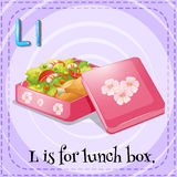 Alphabet L is lunch box Royalty Free Stock Photography