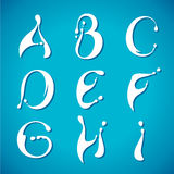 Alphabet laiteux de l'eau de vecteur Images stock