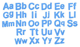 Alphabet, large and small  letters, 3D rendering. On white background Royalty Free Stock Photo