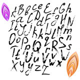 Alphabet. Large and small letters. Royalty Free Stock Image