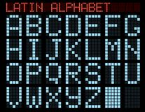 Alphabet latin. Images libres de droits