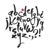 Alphabet latin calligraphique Photographie stock libre de droits