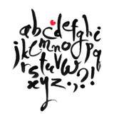 Alphabet latin calligraphique de vecteur Photographie stock libre de droits