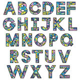 Alphabet latin coloré illustration de vecteur