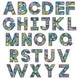 Alphabet latin coloré illustration de vecteur