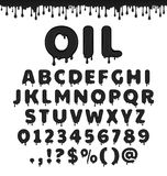 Alphabet latin d'huile de vecteur illustration stock