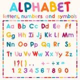 Alphabet latin d'isolement sur le fond blanc illustration stock