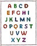 Alphabet latin de pâte à modeler images libres de droits
