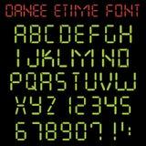 Alphabet latin de temps électronique illustration stock
