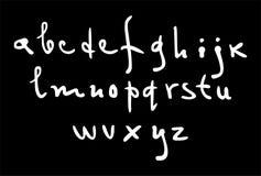 Alphabet latin de vecteur écrit par main illustration stock