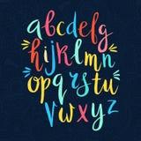 Alphabet latin dessiné à la main illustration de vecteur