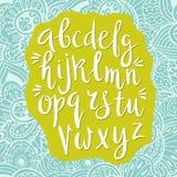 Alphabet latin dessiné à la main illustration libre de droits