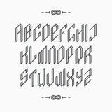 Alphabet latin monochromatique vide d'ensemble illustration libre de droits