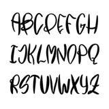Alphabet latin peint à la main de vecteur illustration de vecteur