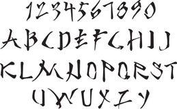 Alphabet latin stylisé illustration stock