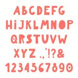 alphabet latin tiré par la main illustration stock