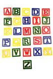 Alphabet learning blocks Royalty Free Stock Photos