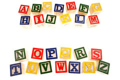 Alphabet learning blocks Royalty Free Stock Photos
