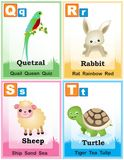 Alphabet Learning Book Page 5 Royalty Free Stock Images