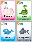 Alphabet learning book page 6 Royalty Free Stock Images