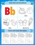 Alphabet learning and color letter B royalty free illustration