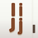 Alphabet Leather Skin Texture. Stock Photography