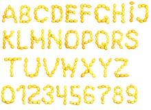 Alphabet of lemon Stock Photo