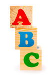 Alphabet letter ABC blocks Stock Images
