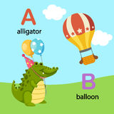 Alphabet Letter A-alligator,B-balloon Royalty Free Stock Image