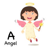 Alphabet Letter A-angel,vector Stock Images