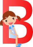 Alphabet letter B(girl) Stock Photos