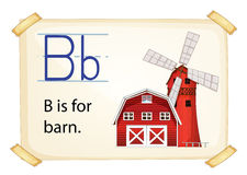 Alphabet letter B Royalty Free Stock Photo