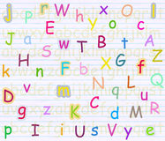 Alphabet letter background Stock Images