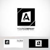 Alphabet letter A black and white logo Stock Photos