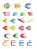 Alphabet letter E Stock Photos
