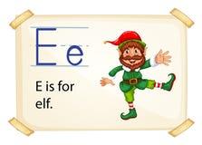 Alphabet letter E Stock Image