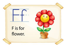 Alphabet letter F Stock Photo