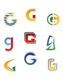 Alphabet letter G Stock Photo