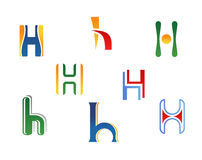 Alphabet letter H Royalty Free Stock Image