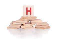 Alphabet - letter H Stock Image