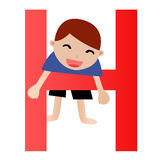Alphabet letter H(boy) Royalty Free Stock Image