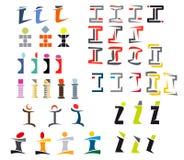Alphabet letter I Royalty Free Stock Images