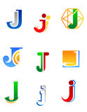 Alphabet letter J Stock Images